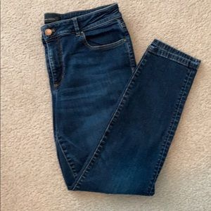 Ann Taylor curvy fit skinny ankle jeans